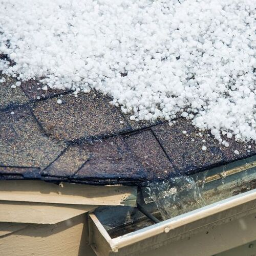 Hail on a Roof